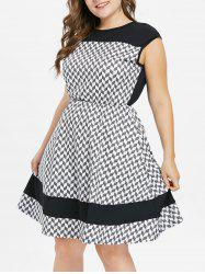Plus Size Geometric Print Casual Dress -