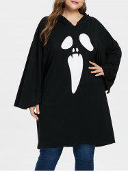 Plus Size Halloween Extra Long Hoodie -