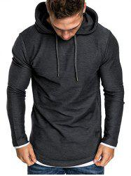 Contract Color Pullover Hoodie -