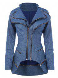 Asymmetrical Zipper Layered Jacket -