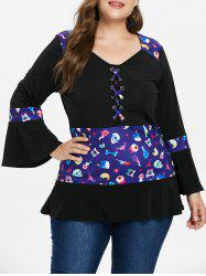 Plus Size Criss Cross Halloween T-shirt -