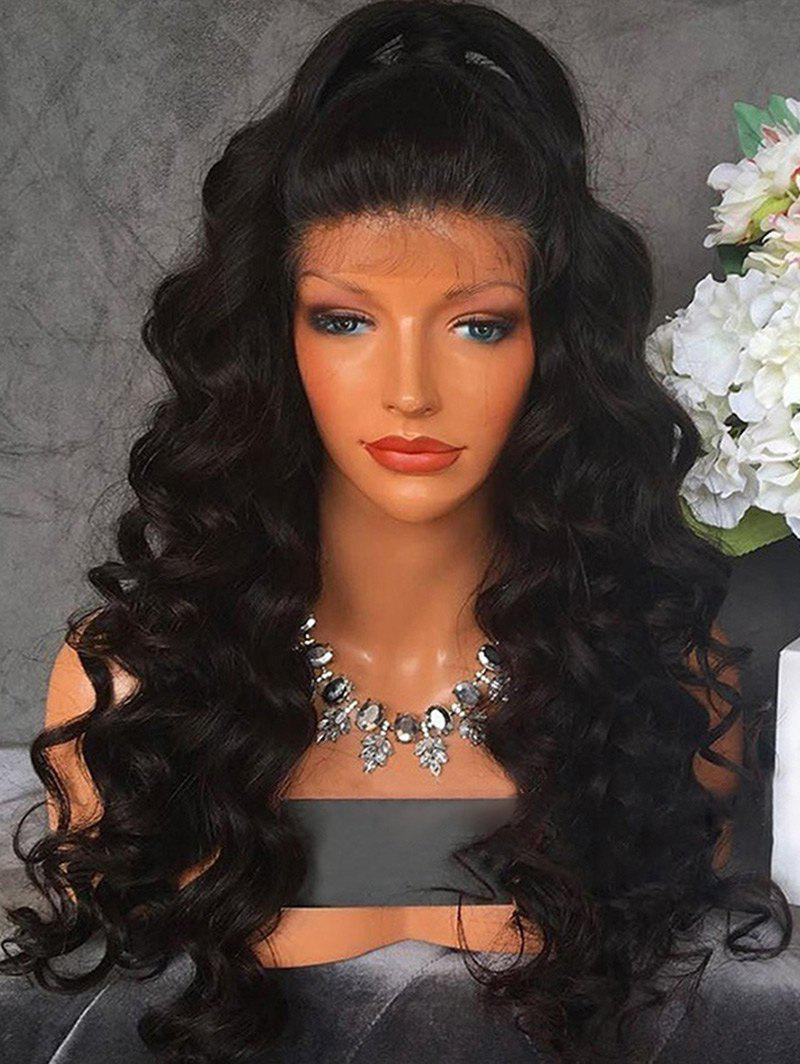 Sale Free Part Long Wavy Lace Front Synthetic Wig
