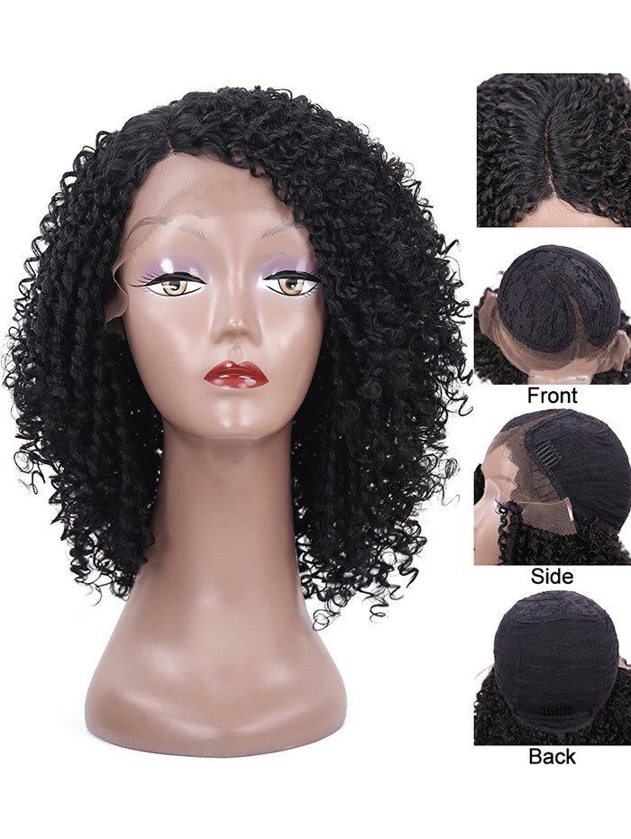Store Short Side Parting Kinky Curly Synthetic Lace Front Wig