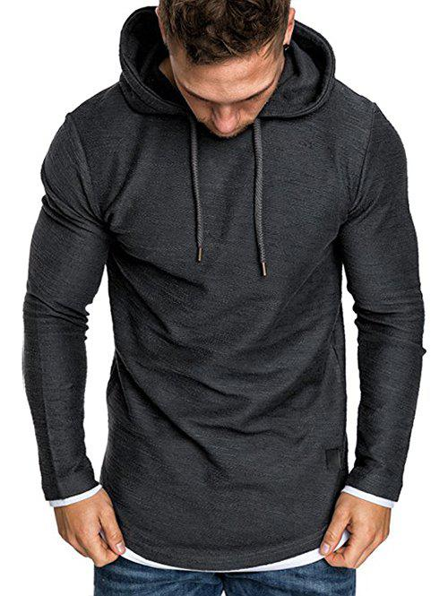 Cheap Contract Color Pullover Hoodie