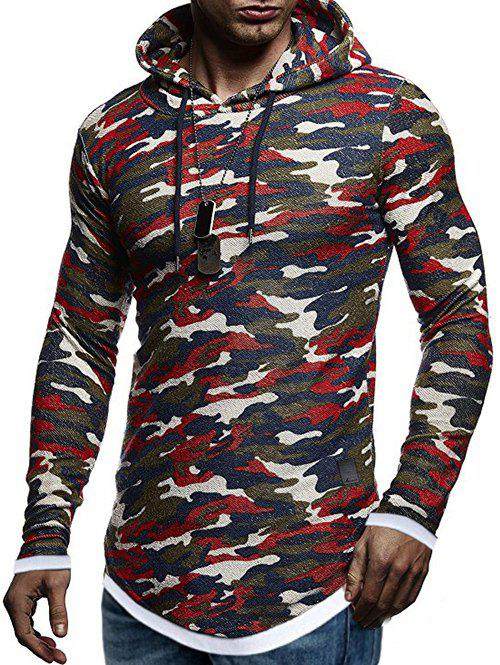 Trendy Contract Color Pullover Hoodie