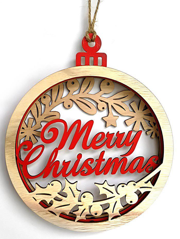 Trendy Merry Christmas Wooden Hanging Decoration