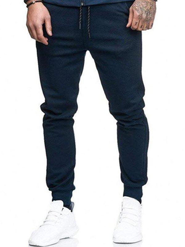 Outfit Solid Lateral Pockets Sports Jogger Pants