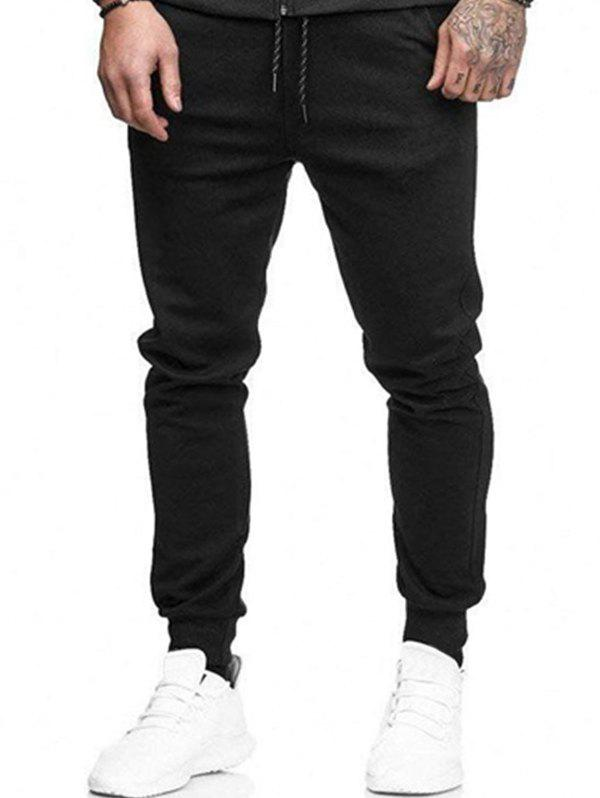 Buy Solid Lateral Pockets Sports Jogger Pants