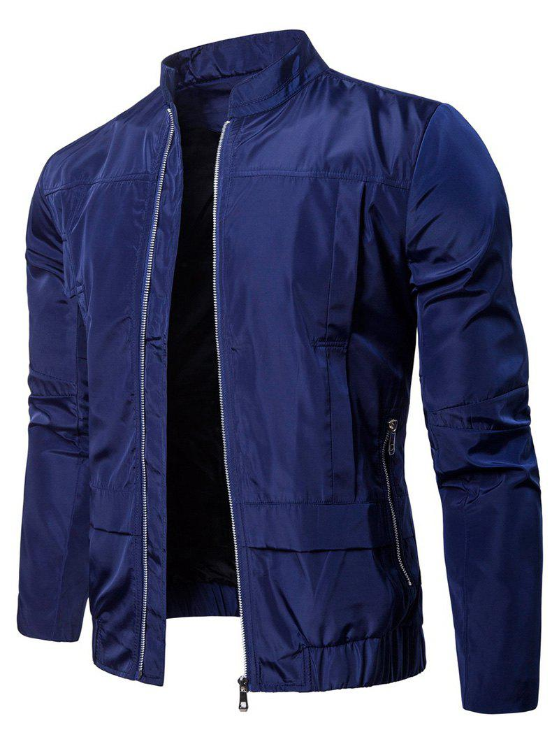 Online Waterproof Solid Color Zipper Jacket