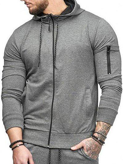 Fashion Casual Pockets Zip Up Sports Hoodie
