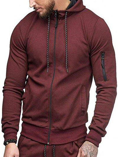 Shop Casual Pockets Zip Up Sports Hoodie