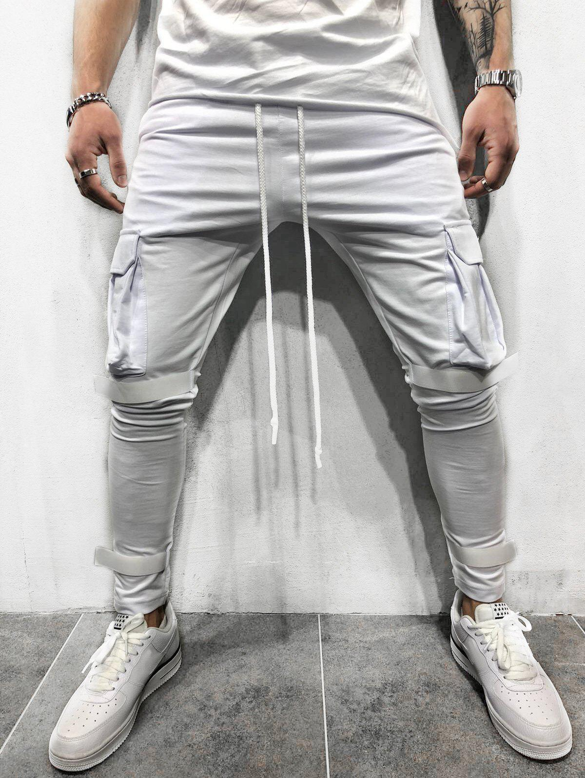 Outfits Solid Velcro Cargo Sweatpants