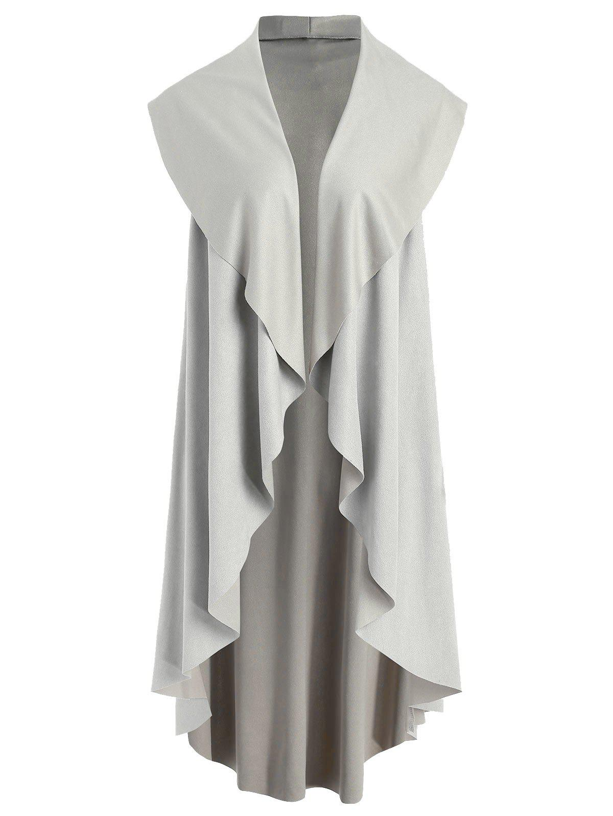 Outfit Asymmetrical Collarless Longline Vest