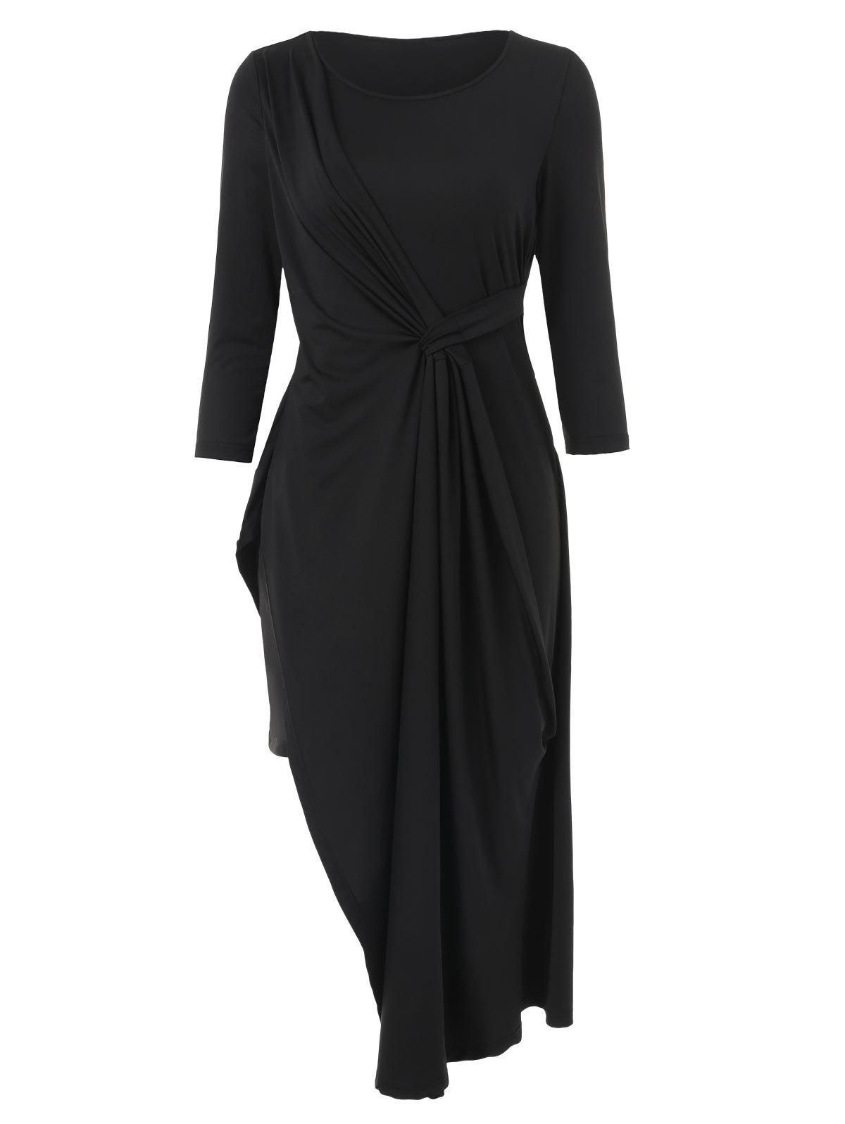 Fancy Ruched Front Slim Fit Dress