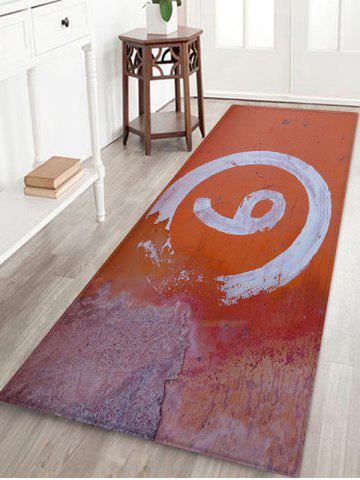 Number Pattern Water Absorption Area Rug