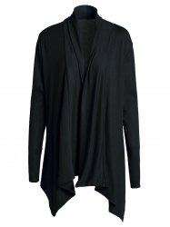Chic Turn-Down Neck Long Sleeve Pure Color Women's Cardigan -