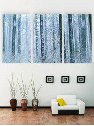 Unframed Snow Scene Printed Canvas Paintings -