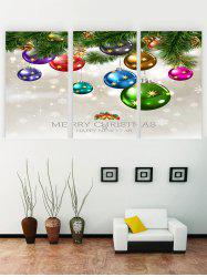 Peintures sur Toiles à Imprimé Inscription Merry Christmas et Happy New Year -