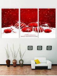 Unframed Christmas Snowflake Ball Printed Canvas Paintings -