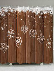 3D Wooden Snowflake Printed Waterproof Shower Curtain -