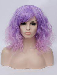 Medium Side Bang Ombre Natural Wavy Party Synthetic Wig -