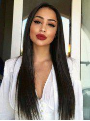 Long Center Parting Straight Synthetic Lace Front Wig -