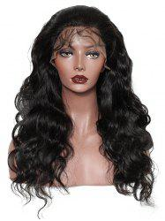 Free Part Long Body Wave Lace Front Real Human Hair Wig -