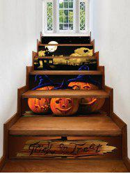 Halloween Night Pumpkins Print Decorative Stair Stickers -