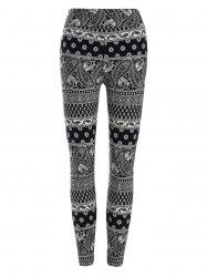 High Waisted Paisley Patterned Leggings -