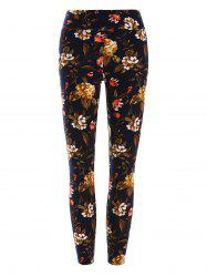 High Waisted Floral Print Leggings -