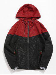 Casual Color Block Hooded Jacket -