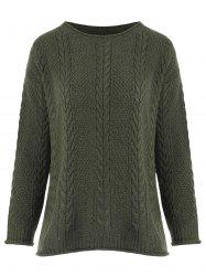 Crimping Cable Knit Sweater -