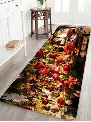 Christmas Hanging Ornament Pattern Water Absorption Area Rug -