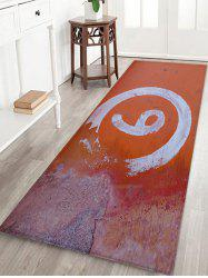 Number Pattern Water Absorption Area Rug -