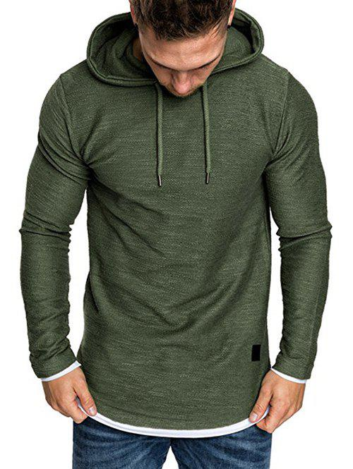 Online Contract Color Pullover Hoodie