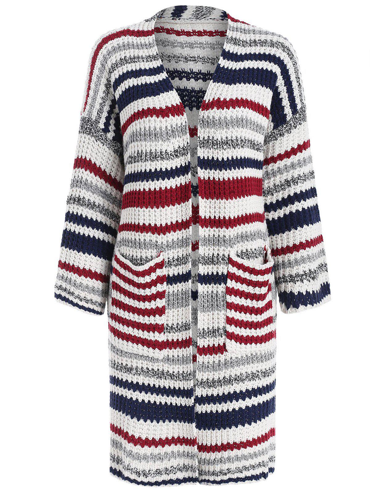 Latest Pocket Striped Cardigan