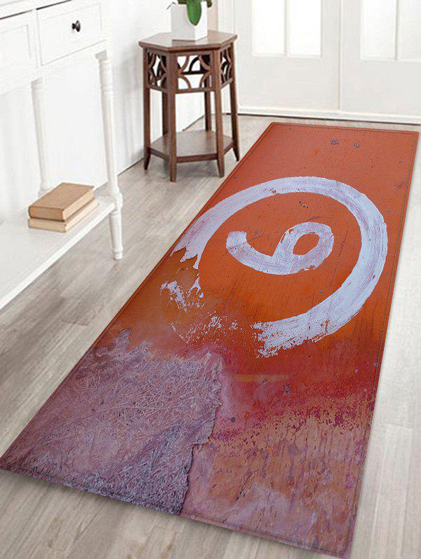 Buy Number Pattern Water Absorption Area Rug