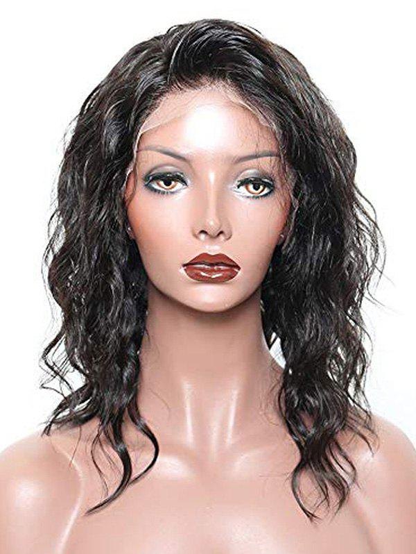 Affordable Free Party Short Natural Wavy Human Hair Lace Front Wig