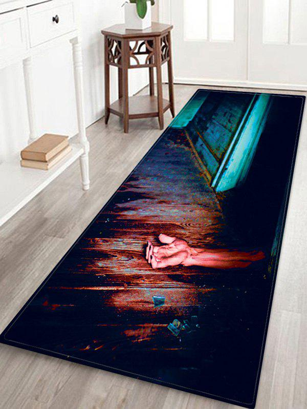 Affordable Halloween Zombie Hand Pattern Water Absorption Area Rug