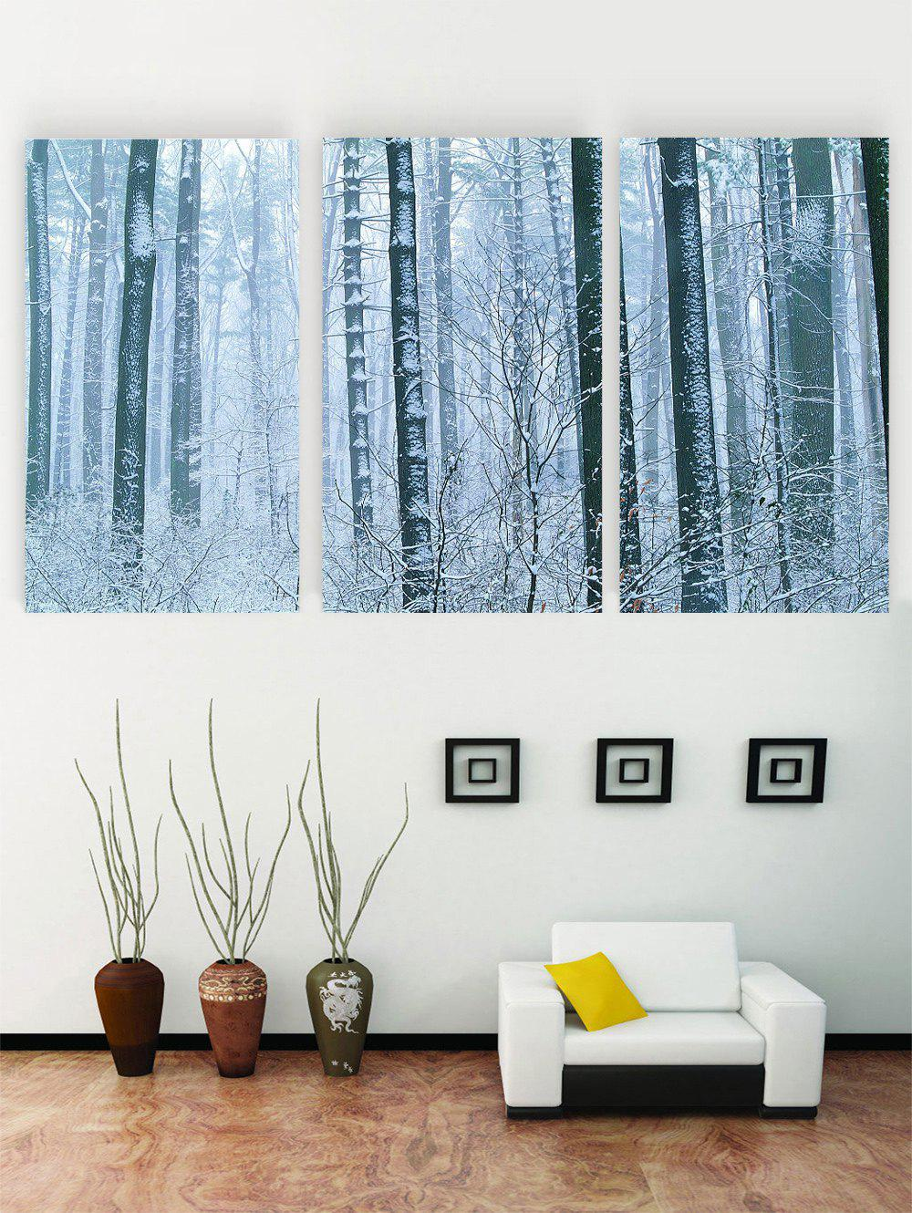 Hot Unframed Snow Scene Printed Canvas Paintings