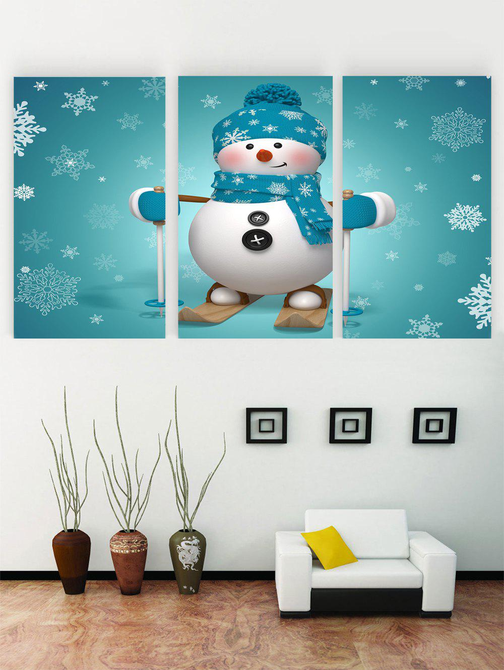 New Unframed Christmas Snowman Snowflake Printed Canvas Paintings