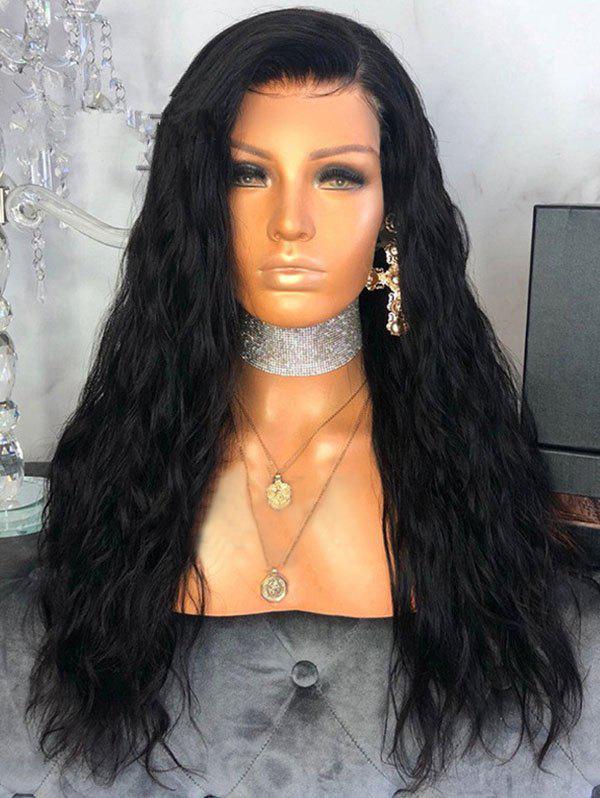 Affordable Free Part Long Natural Wavy Lace Front Synthetic Wig