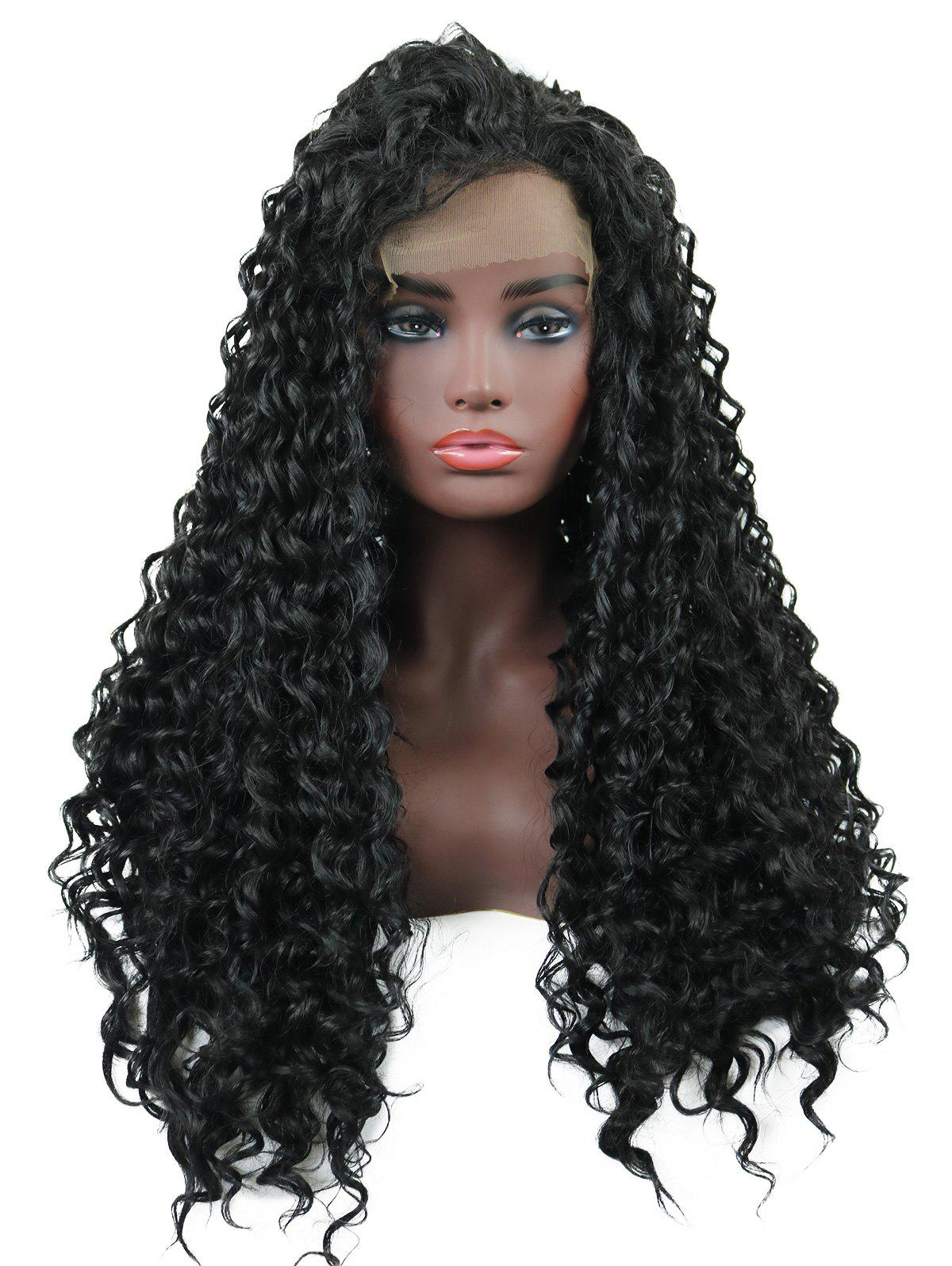 Unique Long Free Part Curly Lace Front Synthetic Wig