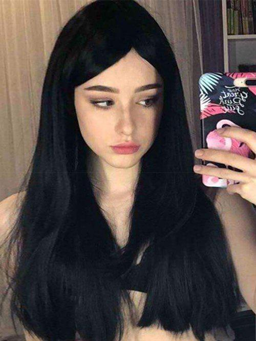 Discount Long Inclined Bang Straight Synthetic Wig