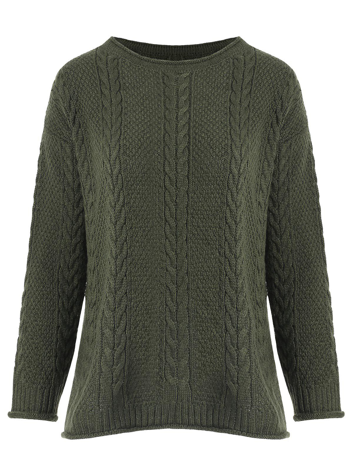 Fancy Crimping Cable Knit Sweater