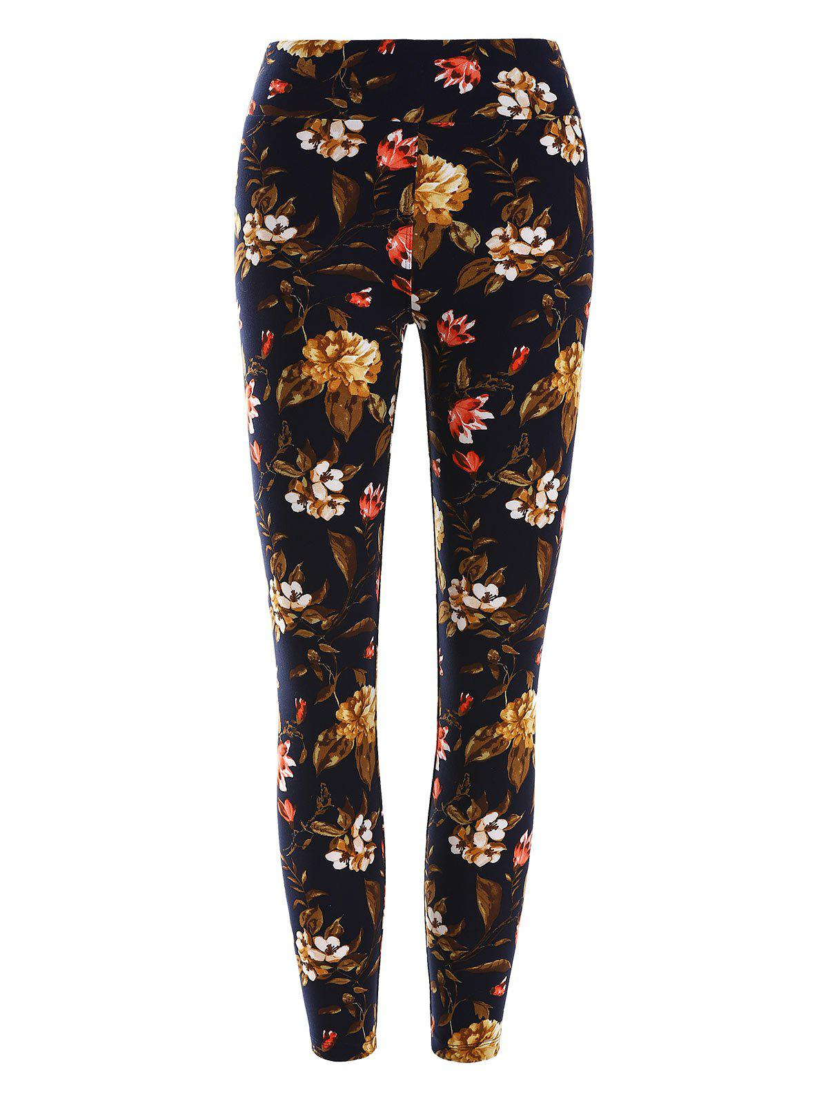 Unique High Waisted Floral Print Leggings
