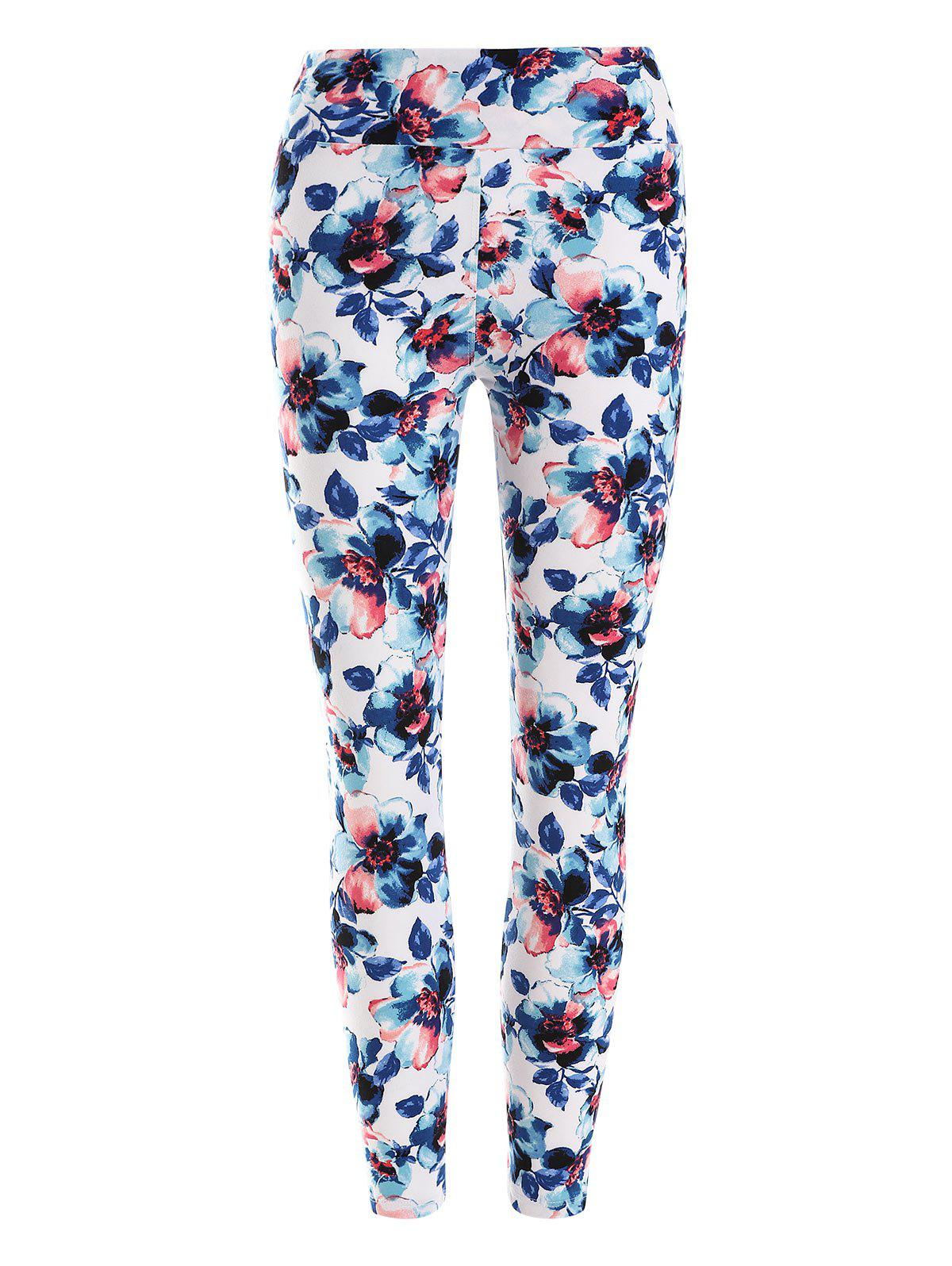 Outfits High Waisted Floral Pattern Leggings