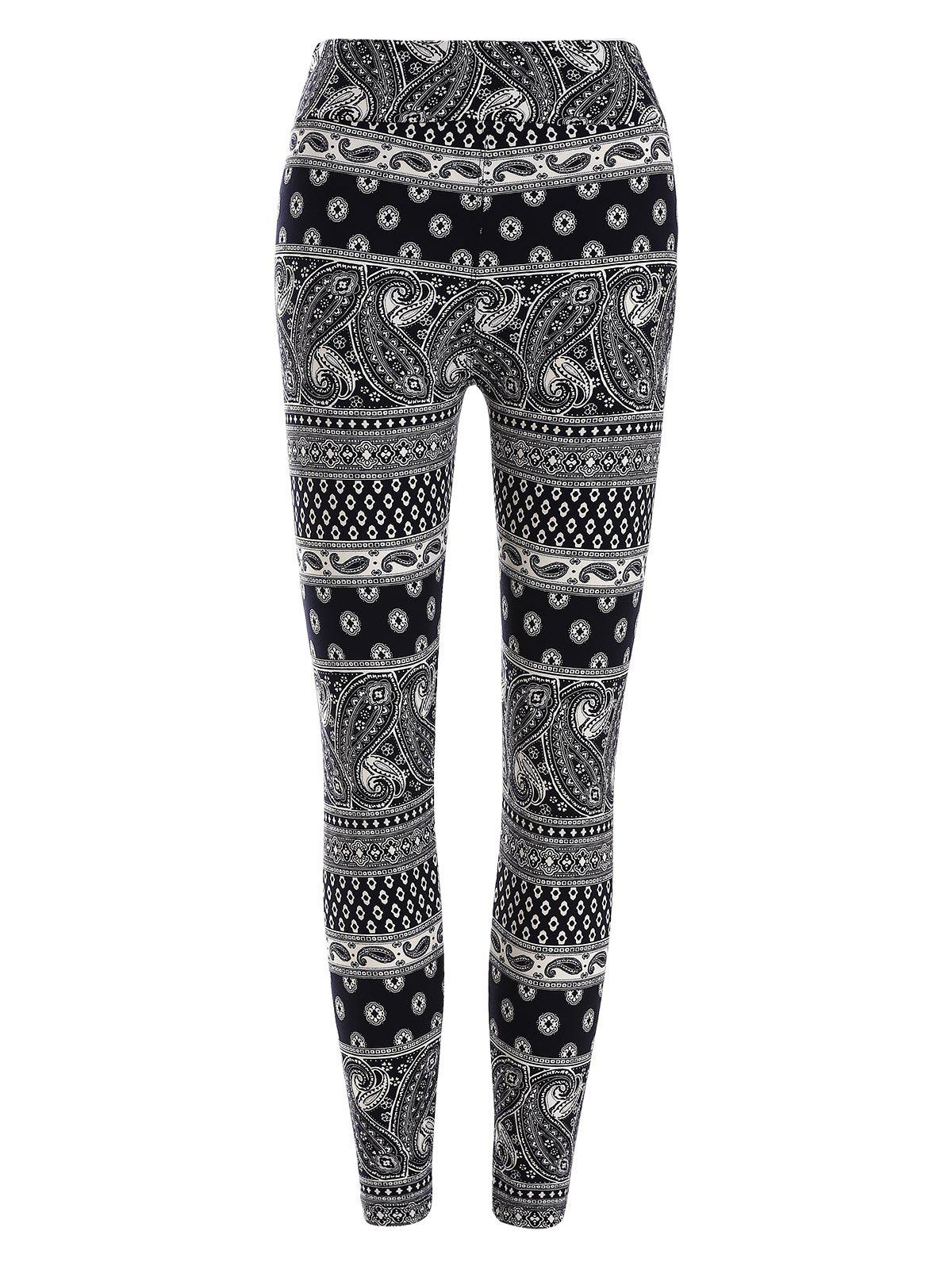 3c92470dbeb6b 49% OFF] High Waisted Paisley Patterned Leggings | Rosegal