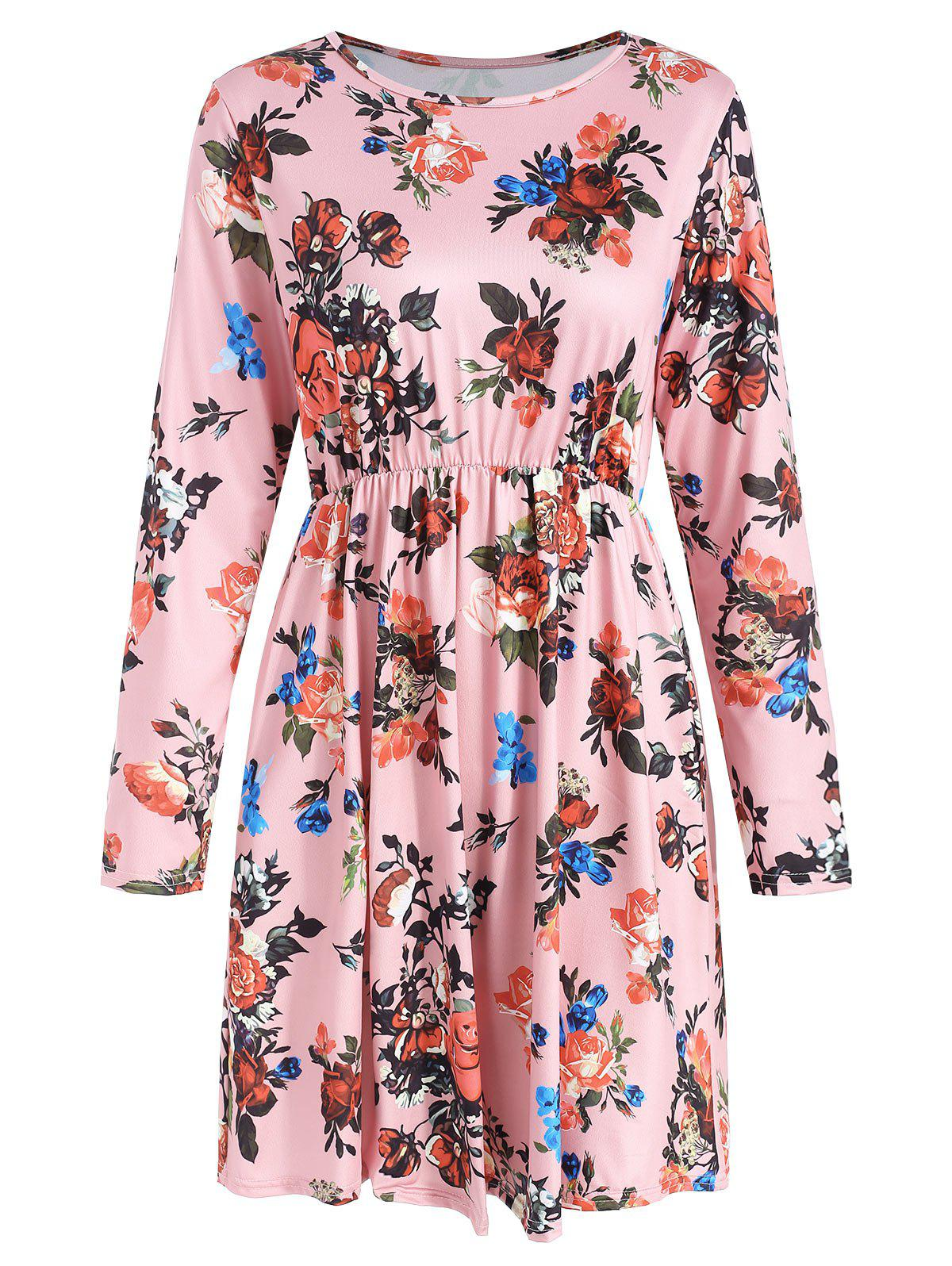 Best Floral Print Full Sleeve High Waist Dress