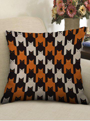 Halloween Cat Pattern Decorative Sofa Linen Pillowcase